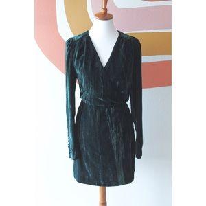 H&M crushed velvet dress
